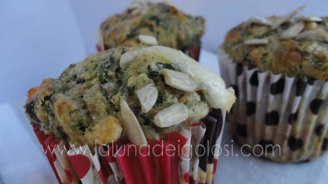Muffin yogurt e spinaci: un antipasto perfetto...