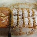 plum cake con zanahorias, que aroma!