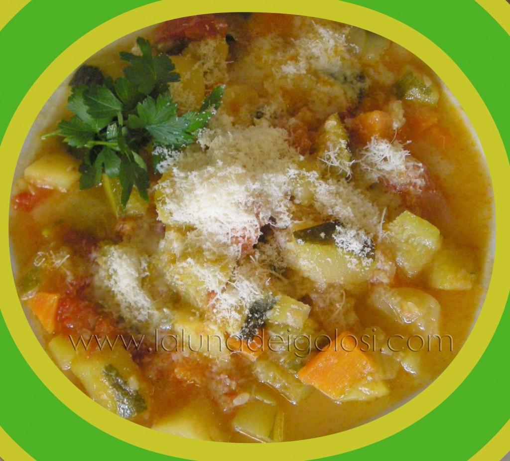 miniminestrone: condisci con abbondante grana grattugiato e Buon appetito