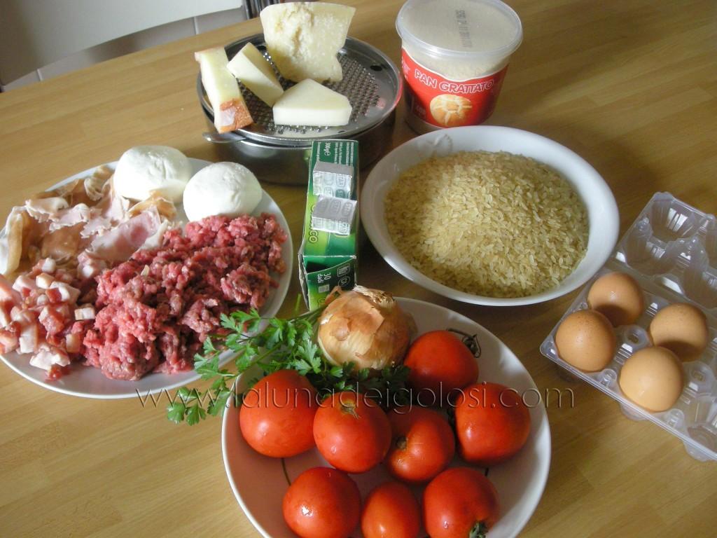 ingredienti per fare gli Arancini alla barese