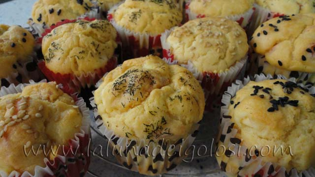 muffin salati con salmone e formaggio: un aperitivo golosissimo!