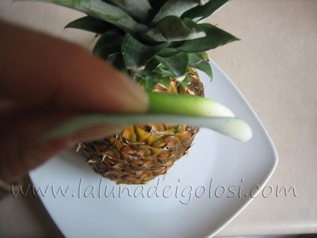 Come si riconosce un anans maturo: le foglie centrali devono venir via facilmente
