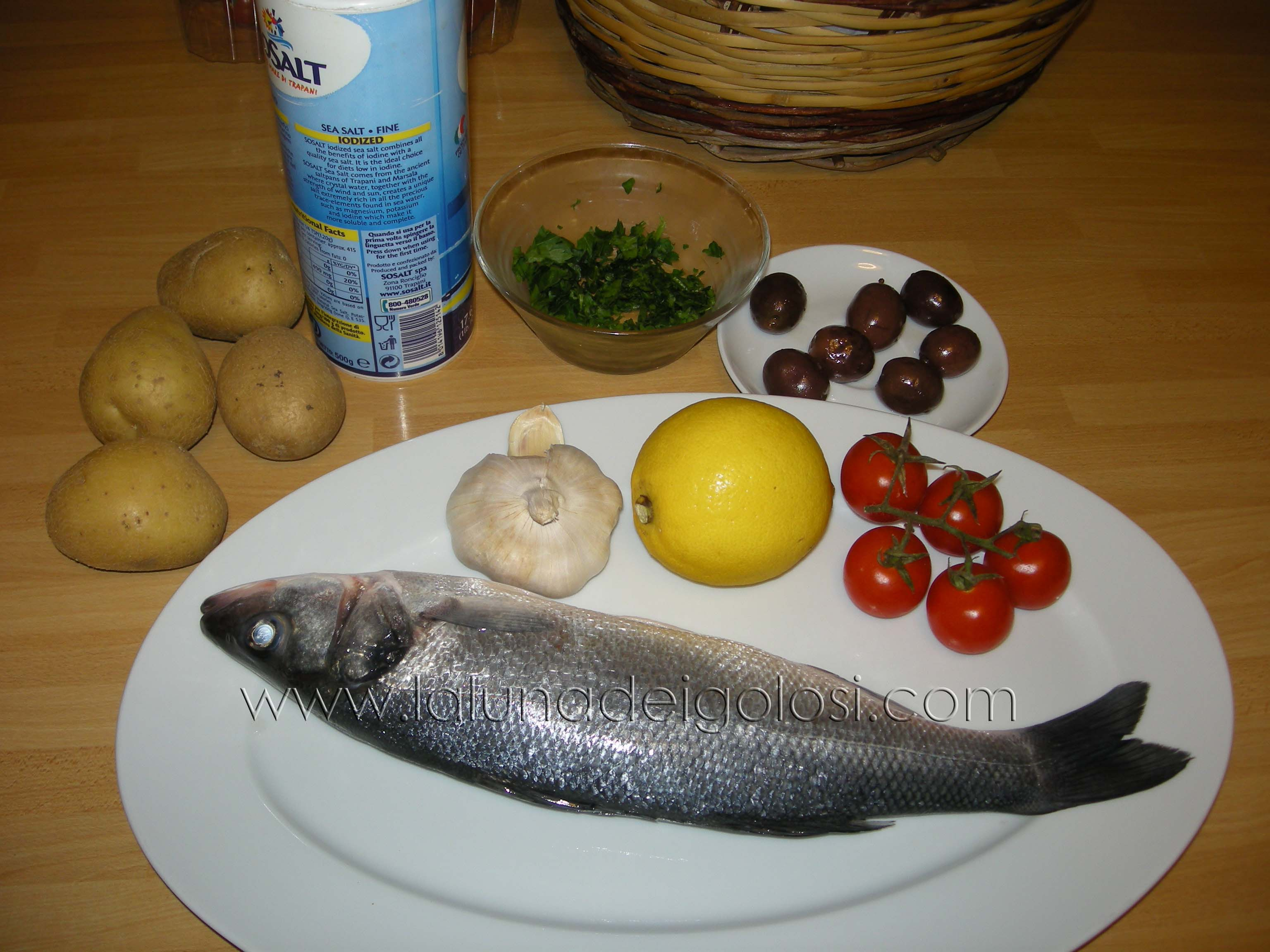 branzino al forno: ingredienti