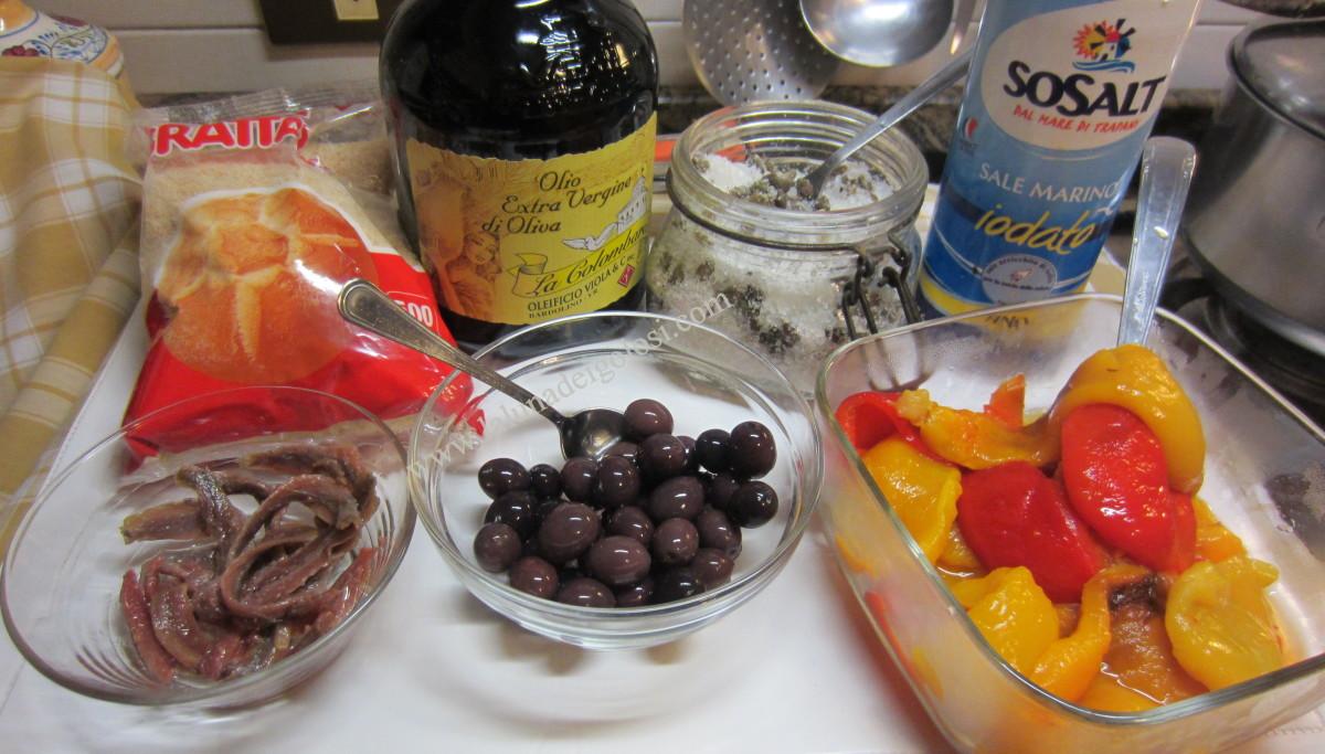 peperoni al gratin: gli ingredienti