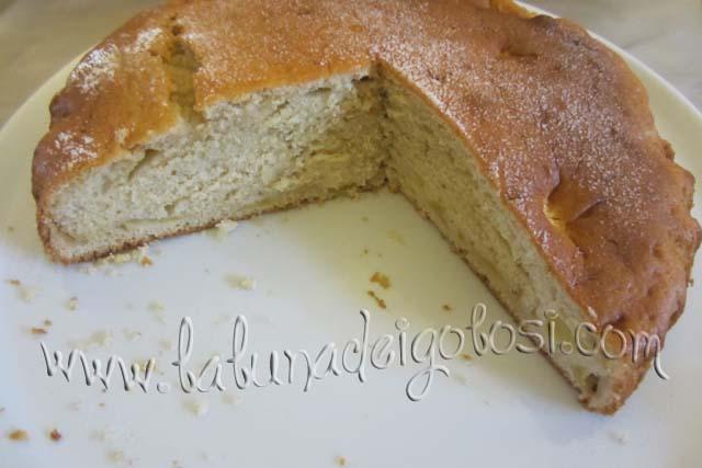spolvera la torta con zucchero a velo
