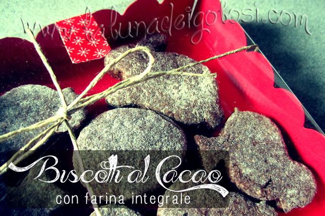 Biscotti al Cacao con Farina Integrale