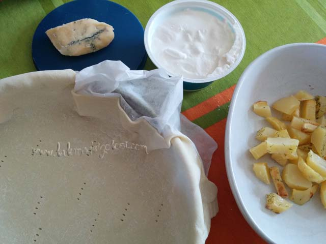 ingredienti delle quiche ricotta e patate