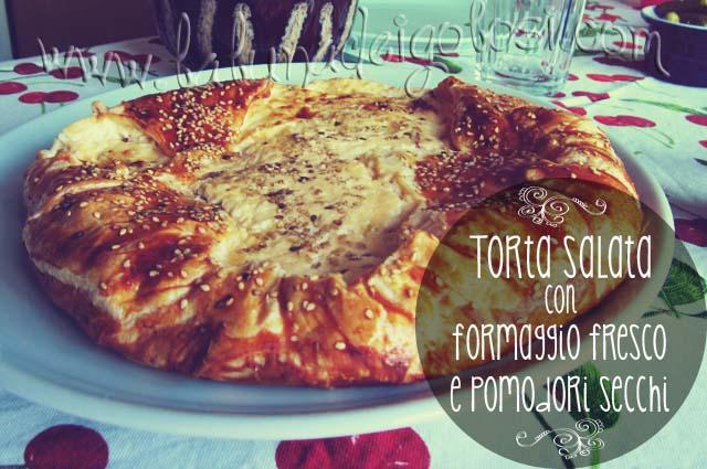 torta salata formaggio e pomodori secchi