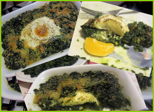 Spinaci con Uova e Mozzarella