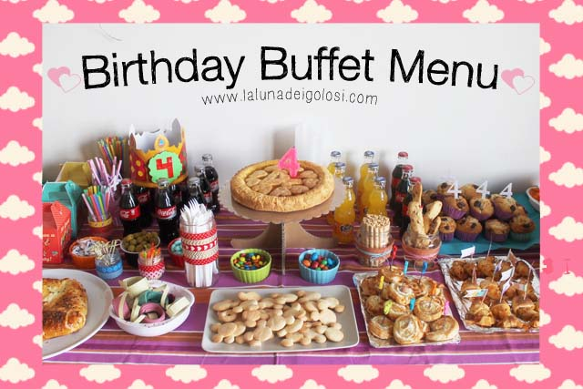 birthday buffet menu