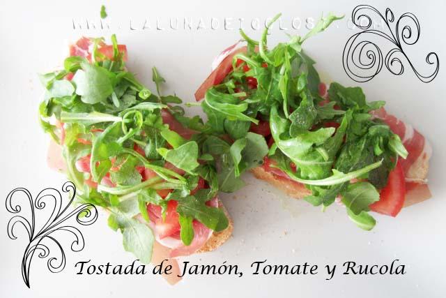 Bruschettine con Prosciutto Crudo, Pomodoro e Rucola