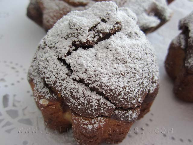 muffin ricotta e cioccolato, buoni!