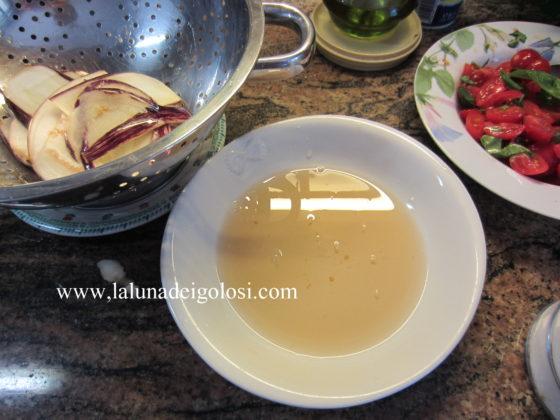 acqua di vegetazione persa dalle melanzane