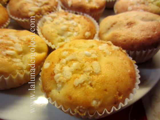 muffin pesca e yogurt