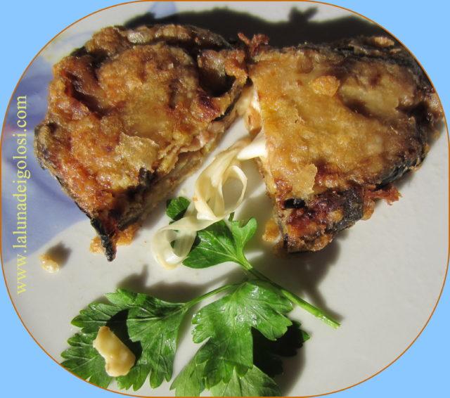 melanzane alla napoletana con prosciutto e mozzarella