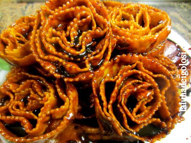 cartellate fritte al vincotto di fichi, buonissime